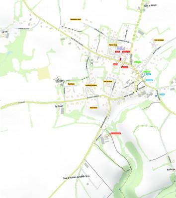 des cartes avec localisation des centres d'intérêt de la commune